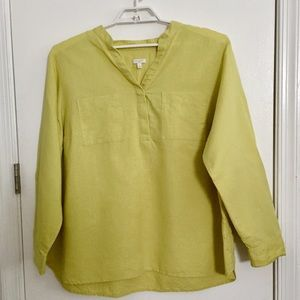 Talbots Woman Linen and Cotton Long Sleeve